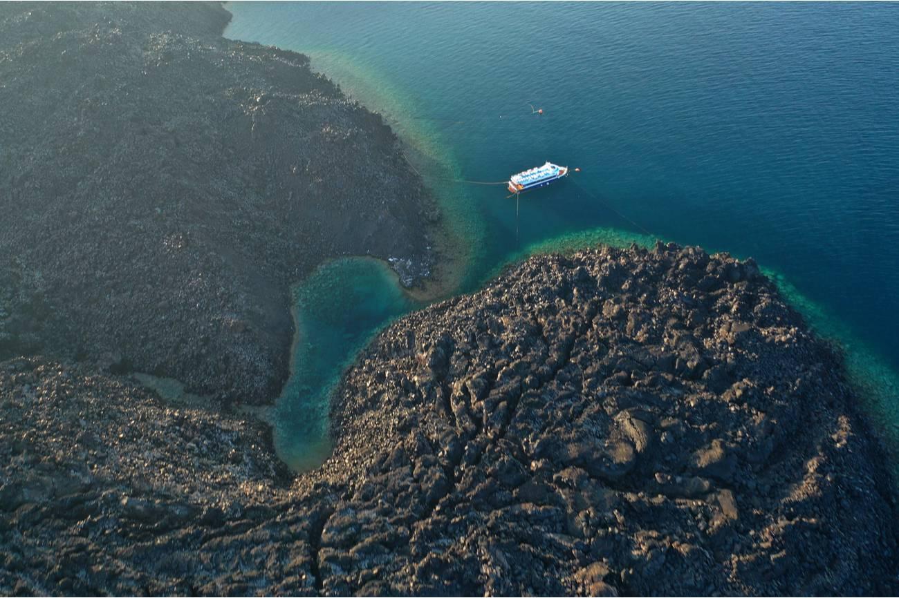 Vulkaan krater Santorini