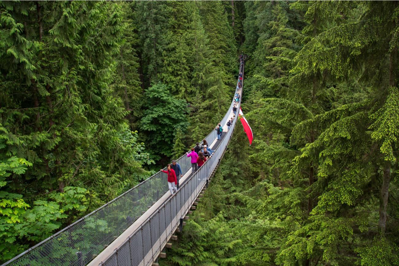 Capilano-hangbrug, Noord-Vancouver, Canada
