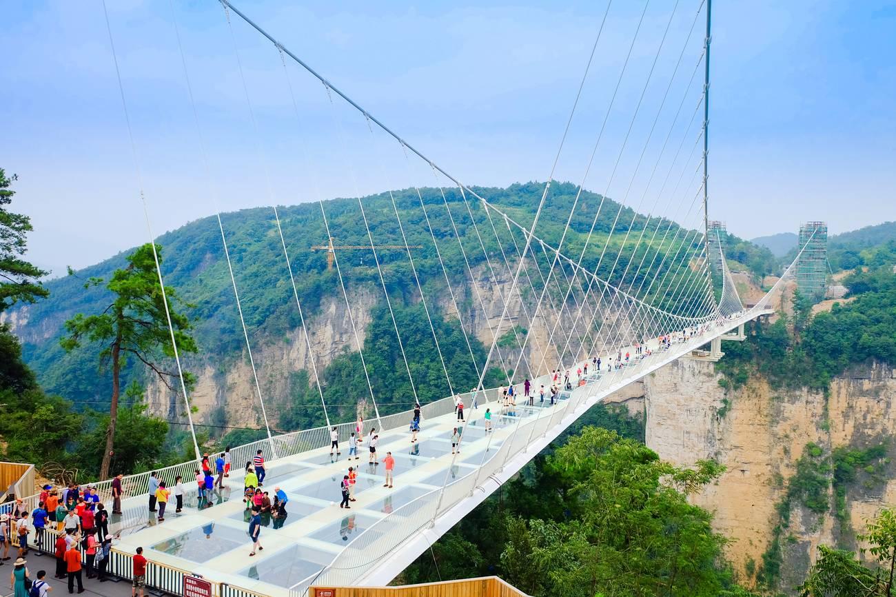 Zhangjiajie Grand Canyon Glass Bridge, Hunan, China